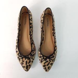 Animal Print Cheetah Ballet Flats Black & Brown